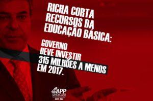 Se arrecadação do Paraná vem aumentando, por que os investimentos em educação são decrescentes?