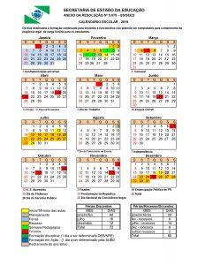 Divulgado Calendário escolar 2019 da Educação Básica do Paraná